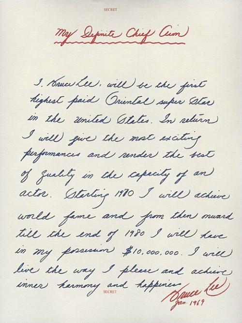lettre bruce lee